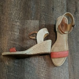 Lucky Brand Kavelli Wedge Sandals Woven Espadrille